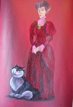 Lady Tremaine And Lucifier by Billy Wallwork [©2013]