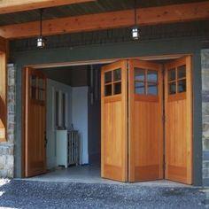 Exterior Accordion Garage Doors
