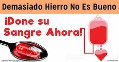 La investigación revela que donar sangre es una manera ideal para evitar tener demasiado hierro, pues esta condición genera serios riesgos de salud. http://articulos.mercola.com/sitios/articulos/archivo/2016/07/17/mucho-hierro-en-la-sangre.aspx