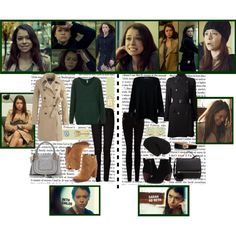 Orphan Black's Beth Childs by cafewednesday on Polyvore featuring Topshop, Amanda Wakeley, J.Crew, Versace, 7 For All Mankind, MANGO, Dolce Vita, Tory Burch, Chloé and Givenchy