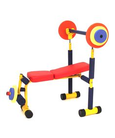 Redmon Fun And Fitness Exercise Equipment For Kids Weight Bench Set * Learn  More By Visiting The Image Link.