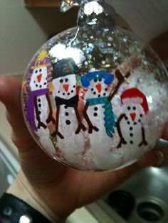 Finger prints handmade ornament
