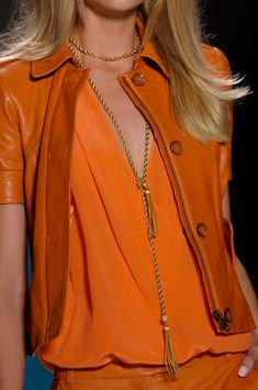 Rachel Zoe at New York Fashion Week Spring 2013 - Love the color! Coral Orange, Orange Color, Orange Zest, Orange Style, Burnt Orange, Yellow, Rachel Zoe, Mode Orange, Glamorous Chic Life