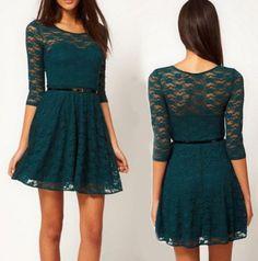 Super cute lace dress.