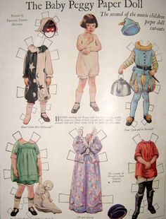 The Baby Peggy Paper Doll