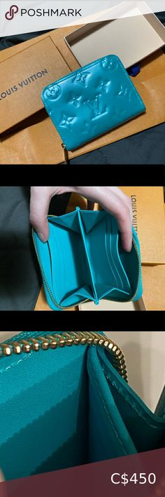 Tiffany Blue Louis Vuitton Mini Zippy In basically brand new condition. It's a mini zippy wallet in Tiffany blue colour. It's rare and hard to find! Comes with box and can come with bag if you would like. No dust bag for this one! The date code is in there it's just really hard to read. Open to offers!! Louis Vuitton Bags Wallets Tiffany Blue Color, Dust Bag, Wallets, Zip Around Wallet, Louis Vuitton, Brand New, Colour, Best Deals, Box