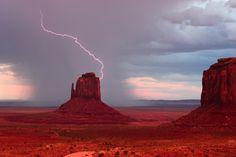 Lightning Strike at Monument Valley   By James Davies jamd99…   Flickr