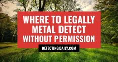 Looking for legal places to go metal detecting? Here are places to legally metal detect without permission AND how to network to meet land owners easily. Meeting New Friends, Make New Friends, Meeting New People, Gold Sluice Box, Used Metal Detectors, Metal Detecting Tips, Scratch Off Tickets, Magnet Fishing, Welding Cart