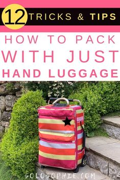 12 Best Tricks & Tips on How to Travel With Hand Luggage Only. Here's everything you need to know about going away with no checked luggage and just a cabin bag!