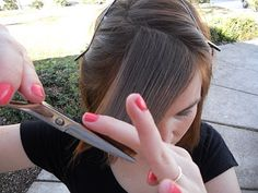 how to cut your own swoop bangs