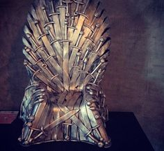 Game of Thrones Iron Throne cake,the seat of kings in the Seven Kingdoms, by Planet Cake.