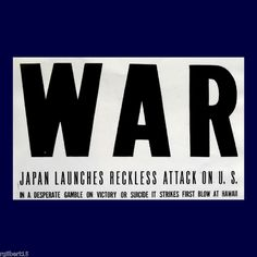 1st Coverage of Japanese attack on Pearl Harbor