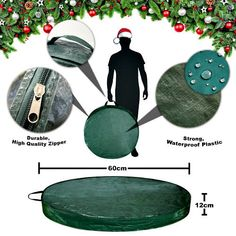 Protective Christmas Wreath Storage & Carrying Bag Large Waterproof ZIPPER Close for sale online Wreath Storage, Bag Storage, Christmas Tree Storage Bag, Large Bags, Carry On, Christmas Wreaths, Zipper, Amp, Ebay