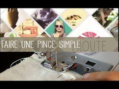 Vidéo: comment coudre une pince simple à la machine? #couture #tuto