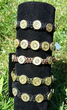 Items similar to Bullet Shell Bracelets Adjustable Unisex Handwoven on Etsy Bullet Casing Crafts, Bullet Casing Jewelry, Bullet Crafts, Handcuff Jewelry, Ammo Jewelry, Hardware Jewelry, Shotgun Shell Crafts, Shotgun Shell Jewelry, Shotgun Shells
