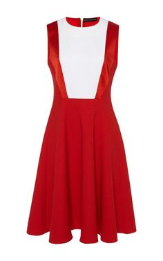 Wool Crepe Trinity Dress by Jonathan Saunders for Preorder on Moda Operandi