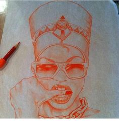 Dope Queen Nefertiti I love this sketch!!!