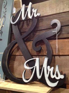 Mr. and Mrs. Sign Hobby Lobby | Mr & Mrs | Future Mrs.... | Pinterest