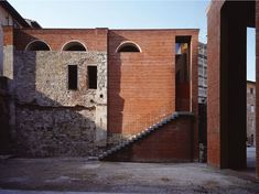 Reconstruction of San Michele by Massimo Carmassi Architecture 101, Industrial Architecture, Contemporary Architecture, Building Renovation, Adaptive Reuse, Brickwork, Modern Buildings, Brick And Stone, Restaurant