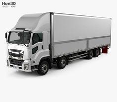 2b630c1130e874 3D model of Isuzu Giga Box Truck 4-axle 2017