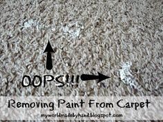 how to remove paint from carpet. Black Bedroom Furniture Sets. Home Design Ideas