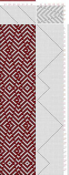 Hand Weaving Draft: Threading Draft from Divisional Profile, Tieup: 2500 Armature - Intreccio Per Tessuti Di Lana, Cotone, Rayon, Seta - Eugenio Poma, Draft #43375, Threading: Weber Kunst und Bild Buch, Marx Ziegler, (1677) # 33, Treadling: Weber Kunst und Bild Buch, Marx Ziegler, (1677) # 13, 16S, 24T - Handweaving.net Hand Weaving and Draft Archive