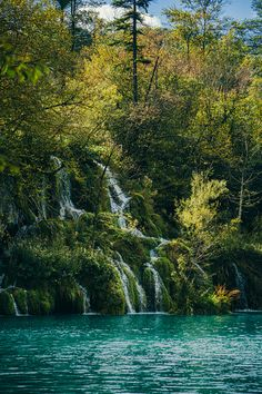 Colorful trees during autumn at the shores of a lake. Photo taken in #Plitvice #Lake in #Croatia. #InnerLightLeaks