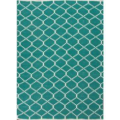 Jaipur Rugs Ese09 – Escape Rugs Teal By Jaipur ($64) ❤ liked on Polyvore featuring home, rugs, teal rugs, outside rugs, pattern rug, woven rug and outdoor area rugs