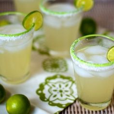 classic margarita: fresh limes, agave syrup and good silver tequila