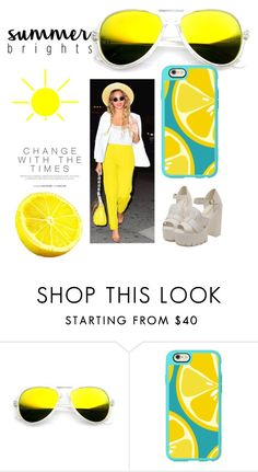 """""""Sunny Yellow"""" by blaireswift ❤ liked on Polyvore featuring Casetify"""