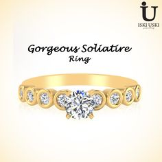 IskiUski offers Unique designs of Solitaire Engagement Rings at best Prices in India.!!