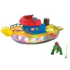 Light up boat - bath toy  Stocking filler.