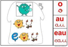 Affichages sons alphas o au eau Phonemic Awareness, Kindergarten Literacy, Teaching French, Letter Sounds, Montessori, Alphabet, Sons, Homeschool, Kids Rugs
