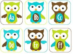 Polka Dot {Owl Themed} Word Wall Materials image 2