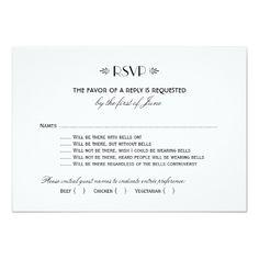 Elegant Wedding Invitation Wedding RSVP Card   Art Deco Elegant Style