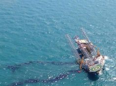 Another fatal accident offshore Mexico:  The image above, shared on Twitter, apparently shows the affected rig, leaking oil into the sea. Source httpstwitter.comInfoMedia_mx