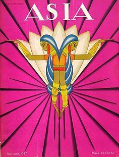 Frank McIntosh (American illustrator, 1901-1985) Asia Magazine Cover February 1927