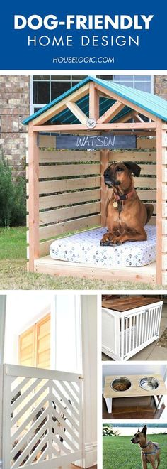 dog kennel ideas outdoor 4 clever (and classy) pet-friendly ways to make your home super comfy for your pet and gorgeous for you. Diy Stuffed Animals, Training Your Dog, Dog Friends, Dog Bed, Dog Life, Animals And Pets, Indoor Outdoor, Outdoor Privacy, Outdoor Crafts