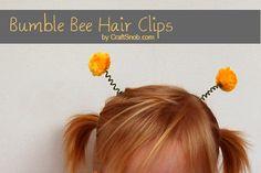 make bee hair clips for girls