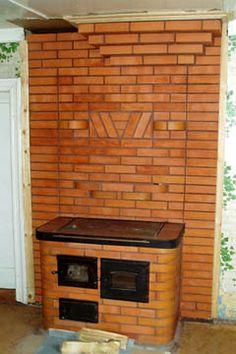 Masonry Oven, Mini Wood Stove, Brick Grill, Stair Landing, Stove Oven, Rocket Stoves, Kitchen Design, Floor Plans, Outdoor Decor