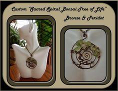Peridot, tree of life jewelry, sacred spiral, healing jewelry, mother  | ArtisticCreationsbyRose - Jewelry on ArtFire