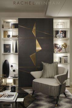 TV joinery designed by Rachel Winham Interior Design for a project at Southbank Tower. www.rachelwinham.com:
