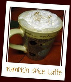 Pumpkin Spice Latte - looks amazing!! (Leave out the CoffeeMate, I wouldn't touch that stuff with a 10ft pole)