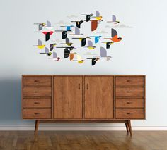 Charley Harper: A Flock of Birds Wall Décor  MBR or Dining area..I love these