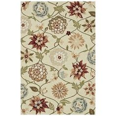 Summerton Ivory & Red Area Rug