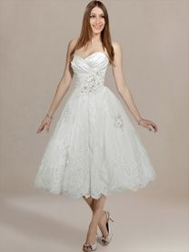 tea length wedding dresses at weddingdress.com