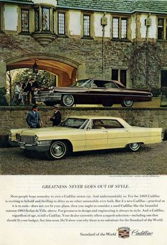 1965 and 1963 Cadillacs #ferrariclassiccars