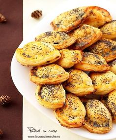 Delicious homemade meat pies with poppy seeds - hmm, could try with Jamaican beef instead for yummy ny style beef patties Baby Food Recipes, Beef Recipes, Great Recipes, Cooking Recipes, Favorite Recipes, Cooking Ideas, Food Ideas, Finger Food Appetizers, Appetizer Recipes