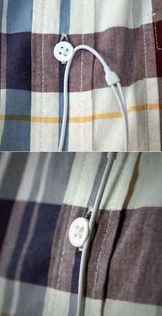 Clever Cable Management Via 3D-Printed Shirt Button - Core77    This is an Awesome idea :-)