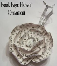 beautifull home made christmas book paper ornaments